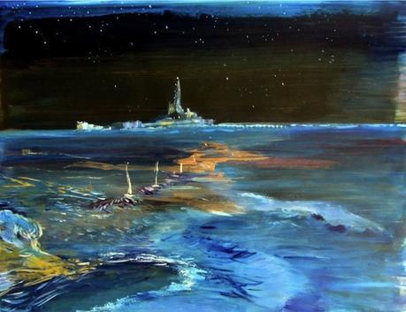 tableau peinture kazoart cathedrale bout du monde