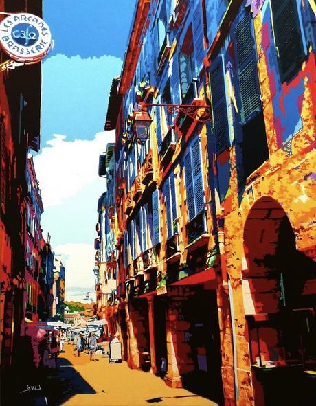 tableau peinture kazoart les arcades bayonne