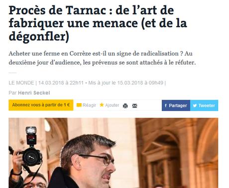 #Tarnac, ou l'histoire magistrale d'une tartufferie d'Etat (et de la peur du ridicule…)