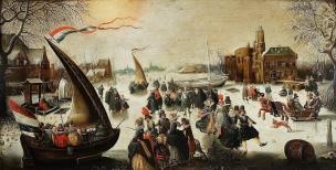Vinckboons_Landscape_with_skaters ca 1610 National Museum Warsaw