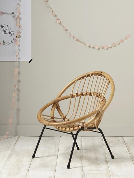 Cyrillus fauteuil enfant en rotin