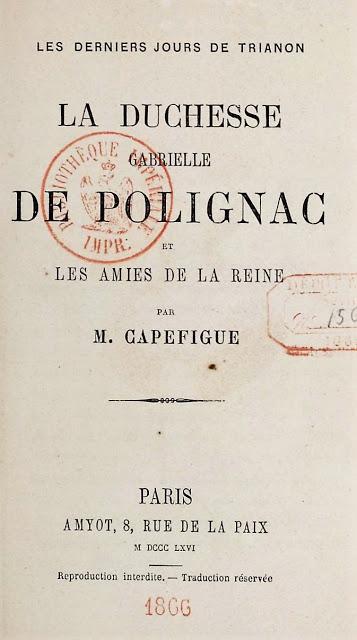 Les lectures françaises du roi Louis II de Bavière (4):  l'oeuvre historique de Jean-Baptiste Capefigue