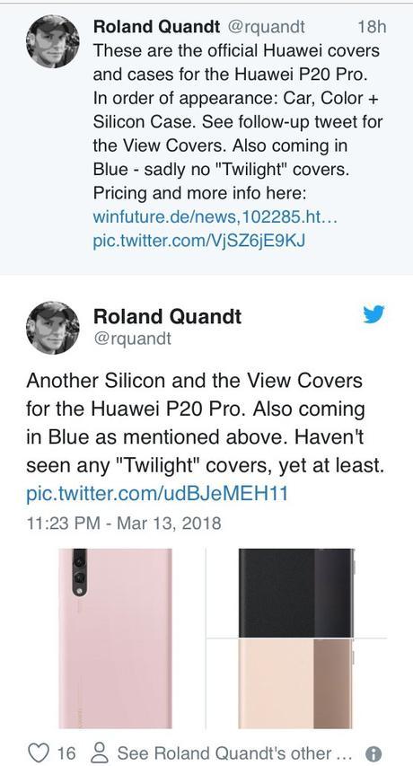 Des coques du Huawei P20 fuitent.