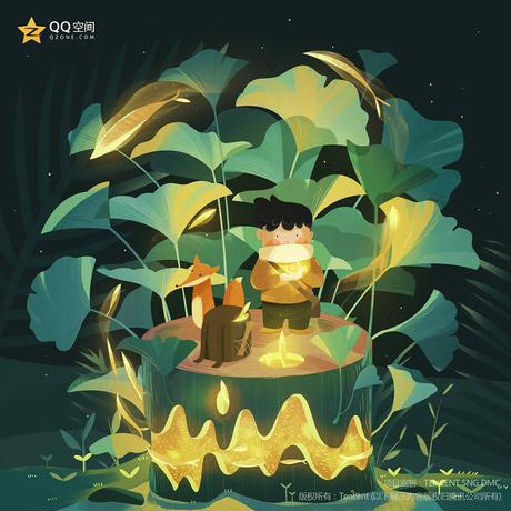 Lovely narretive illustrations from Guihuahuzi