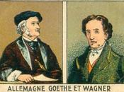 Beaux chromos: Richard Wagner Goethe dans chromos Chocolat Pupier