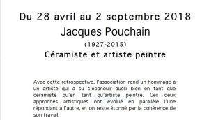 CENTRE D'ART YVON MORIN -Le Poet- Laval – exposition JACQUES POUCHAIN 28 Avril au 2 Septembre 2018