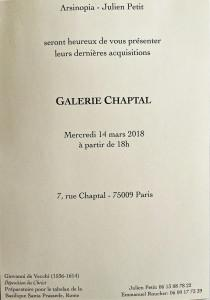 Galerie CHAPTAL  dernières acquisitions  — Mars  2018