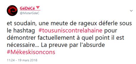 #tousuniscontrelahaine… #oupas #antifa