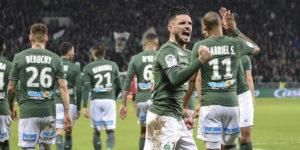 La joie de Rémy Cabella, auteur d'un excellent match, après son but face à Guingamp