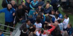 Bagarre en fin de match entre Marseillais et Lyonnais