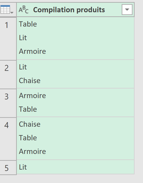 Table Power QUery