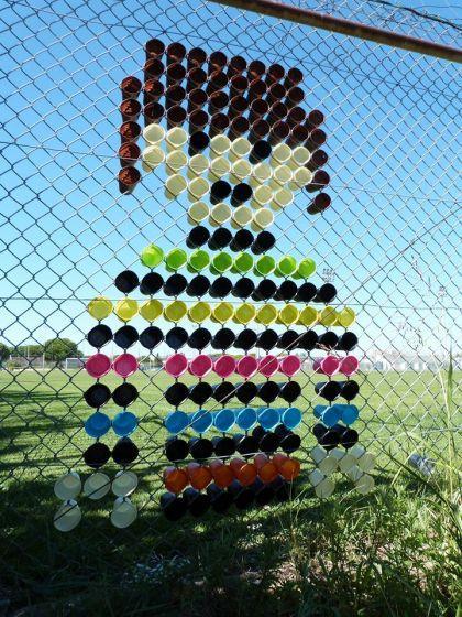 Art de rue gobelets par la Gobi Family