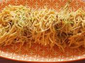 Spaghettis faux houmos graines germées (Vegan)