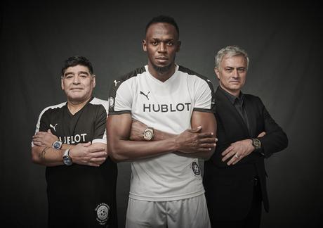 Hublot Ambassadors - Diego Maradona, Usain Bolt, Jose Mourinho