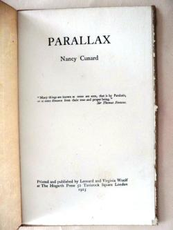 Nancy Cunard  Parallax
