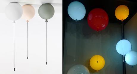 lampe Ballon Memory par Boris Klimek pour chambre enfant