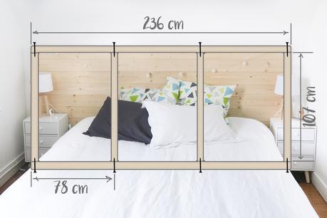 Bienvenue dans ma chambre: room tour et DIY tête de lit en lambris ...
