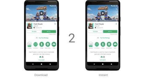Google présente Google Play Instant.