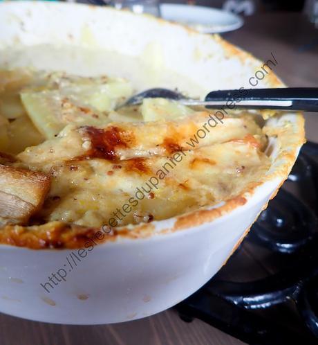 Gratin Crémeux de Panais à la Moutarde et au Beaufort /  Creamy Parsnip with Mustard and Beaufort Cheese Gratin