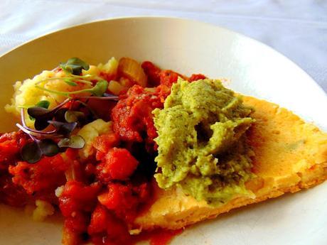 Omelette végétale aux tomates