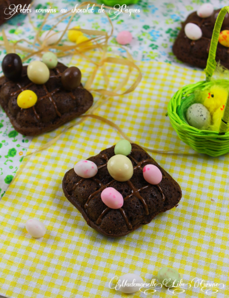 Petits coussins au chocolat pour Pâques