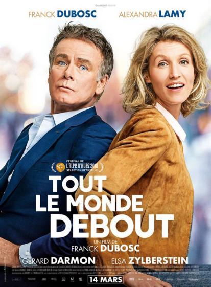 J'ai vu le tout premier film de Franck Dubosq, Tout le monde debout