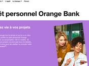 prêt personnel Orange Bank joue flexibilité