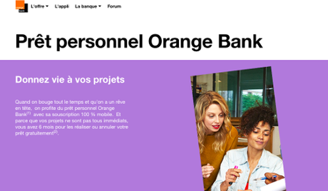 Prêt personnel Orange Bank