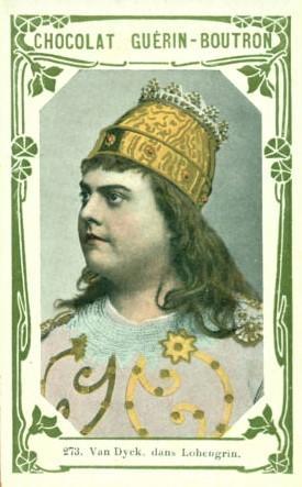 Chromos wagnériens Chocolat Guérin-Boutron: Ernest van Dyck et Rose Caron dans Lohengrin