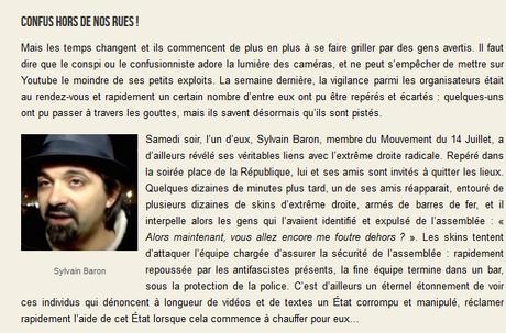 Apologie du #terrorisme : Sylvain Baron a encore frappé… #antisemitisme #antifa #marcheblanche
