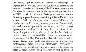 Regard vers le théâtre de Pierre-Marc LEVERGEOIS – « HAMLET de Shakespeare Théâtre 14