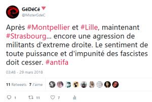 les brutes, le retour… (Vive la riposte populaire antifasciste ! #Montpellier)