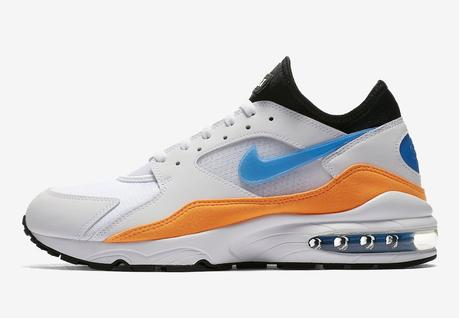Nike Air Max 93 in Blue Nebula and Total Orange