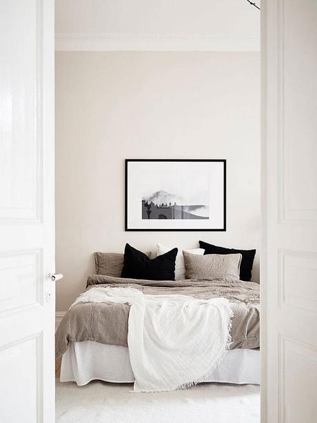 chambre beige couleur lin et taupe deco