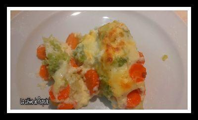 Gratin de chou romanesco et carotte au thermomix ou sans