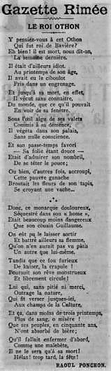 Le Roi Othon, un poème anti-allemand de Raoul Ponchon (1916)
