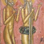 anachorètes en prière (détail)