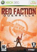 Jaquette DVD de l'édition Xbox 360 PAL du jeu vidéo Red Faction: Guerrilla
