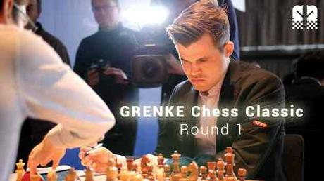 Magnus Carlsen face à Fabiano Caruana au Grenke Chess Classic - Photo © Grenke Chess Classic