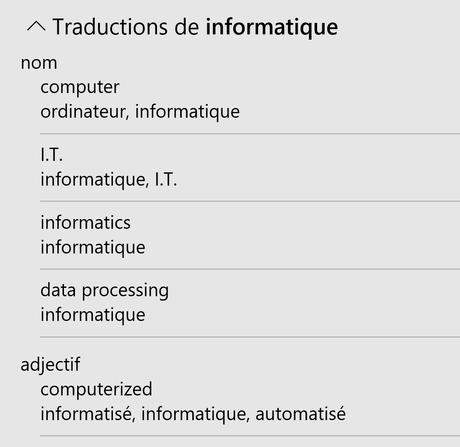 Excel - Traduction - Informations complémentaires