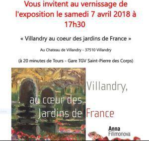 Château de VILLANDRY  exposition Anna FILIMONOVA « Au coeur des Jardins de France »