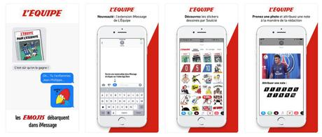 Les stickers débarquent dans L'EQUIPE sur iPhone