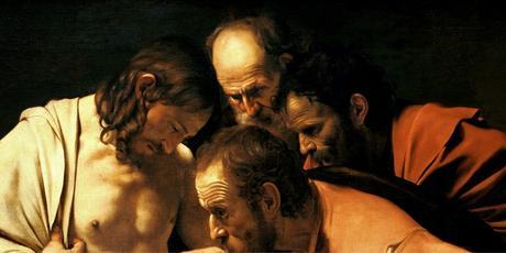 le-caravage, caravage, saint-thomas, painting, hyperrealism, realism, verisme