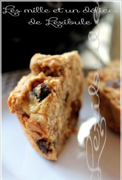 ~Muffins aux bananes, dattes et noix de grenoble~