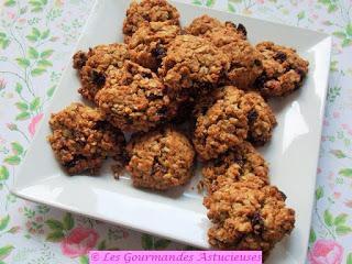 Cookies aux flocons et aux raisins, sans beurre