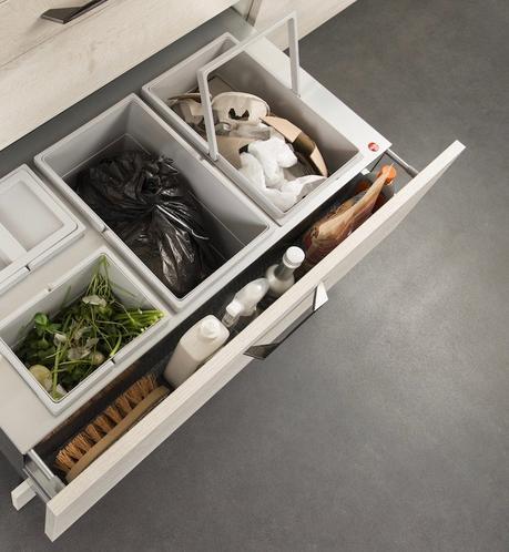 darty cuisine tiroir dechet tri poubelle selective integree