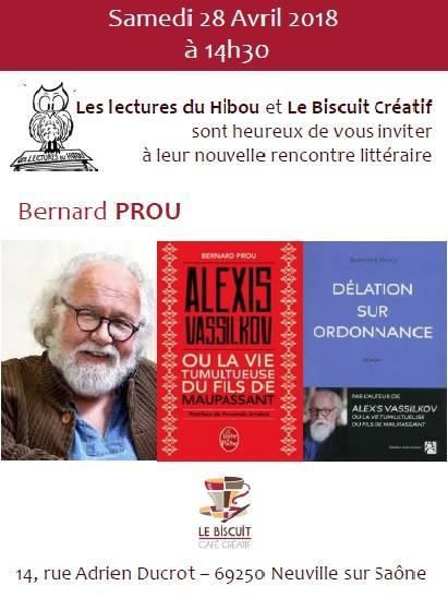 Rencontre littéraire avec Bernard Prou