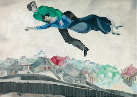 Chagall Au Dessus de la ville - Exposition Vitebsk Lissitzky Malevitch
