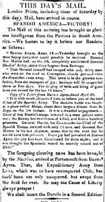 Il y a deux cents ans aujourd'hui, San Martín gagnait la bataille de Maipú [Bicentenaire]