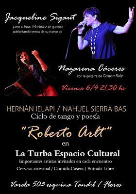 Jacqueline Sigaut et Nazarena Cáceres à La Turba demain soir [à l'affiche]